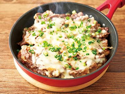牛肉と長芋のミルフィーユ焼き